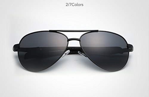 de Color Gafas Borders Black Diseño Moda Gafas polarizadas UV400 Polarized Men Green Marca Sol lan Gafas de Sol Gafas New la Conducción Shuo de Metal 0wUtxBq