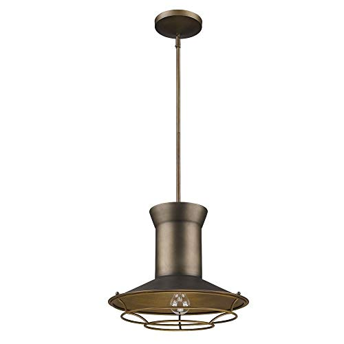 Acclaim Lighting IN21166TC Newport Indoor 1-Light Pendant with Louver Finish, Tin Coated