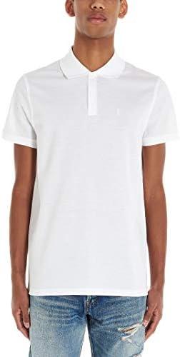 Saint Laurent Fashion Man 554052YB2OC9000 White Cotton Polo Shirt | Season Permanent