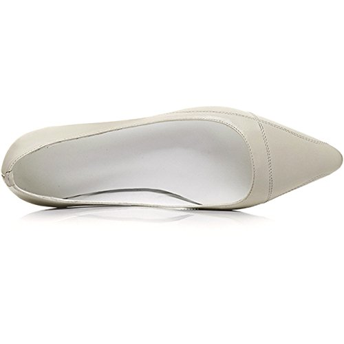 Neuf Sept Femmes En Cuir Véritable Bout Pointu Slip Sur Les Chaussures À La Main Chaussures Confort Beige