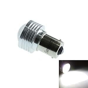 BAU15s (1056 PY21W) 3w 3cob 220-260lm 6500-7500k LED de luz blanca bombilla de luz de marcha atrás del coche (DC12V / 1pcs)