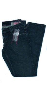 - Chicks Junkie Fit Jeans - Sonic Blue in Dark Rinse