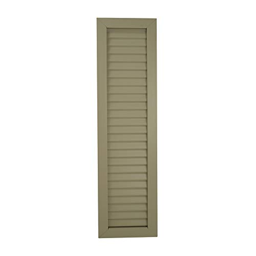 Suntown - Aluminum Shutters (2 Pack) - Classic Louver Style Decorative - Includes Matching Color Screws - Size 8 inch X 36 inch (Color: Sable) ()