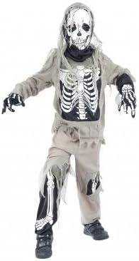 Desconocido Disfraz de esqueleto zombie para niño| ideal para ...