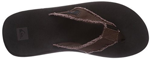 Monkey Upper Black sole Marron Abyss Homme Quiksilver Tongs Brown adBTZgna