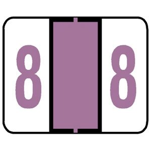 Numeric Label, Vinyl Coated, Tab Compatible, 1-1/4