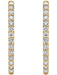 IGI Certified 3.00 Carat Natural Diamond Earrings 10K White Gold for Women Diamond Jewelry Gifts for Women (G-H Color, I1-I2 Clarity) Diamond Hoop Earrings for Women Diamond Jewelry Gifts for Women