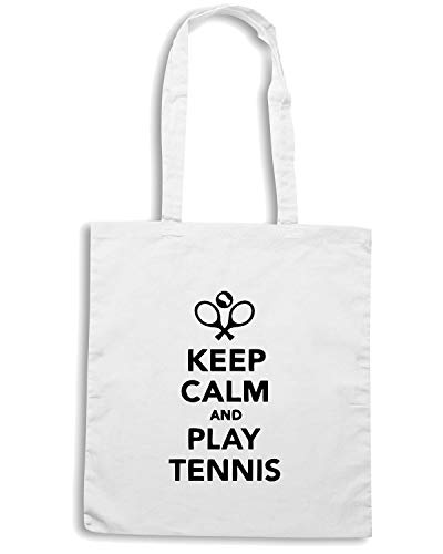Shirt TENNIS Bianca KEEP CALM Borsa Speed PLAY Shopper OLDENG00151 AND dxqz4dnZwC
