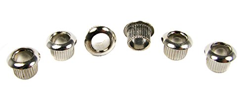 6pc. Shiny Nickel-Plated Guitar Tuner (Bushing Ferrule)