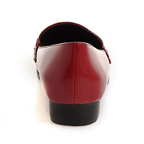 TAOFFEN Office Rouge Nude Travail Femme Talons de Mouth Shallow USf8UwWrq