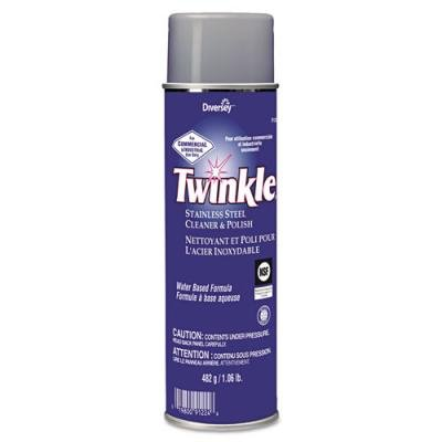 Twinkle Stainless Steel Cleaner & Polish, 17oz Aerosol, 12/Carton