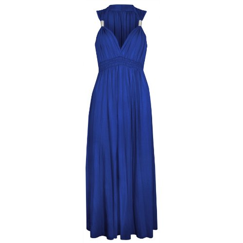 Spring Stretch Evening Ladies Royal 1 Maxis Long Maxi Dress Womens Size Coil Blue Dresses nTfE8