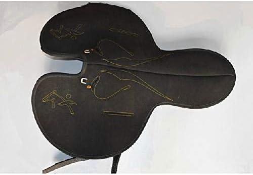 GCSEY 2019 Suministros Caballo Velocidad sillín de Carreras de Silla de Montar ecuestres Caballo y la Velocidad del arnés de Carreras de una Silla Negro Práctica de una Silla