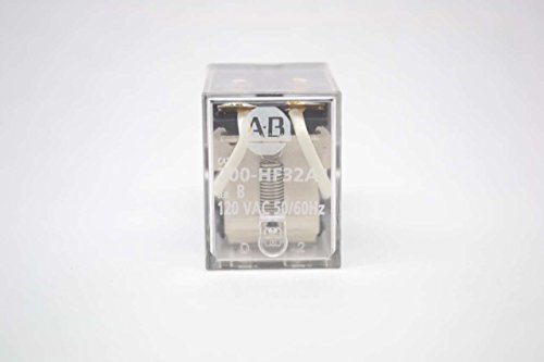 (1- Allen Bradley 700HF32A1 GENERAL PURPOSE MINIATURE SQUARE BASE RELAY, 10 AMP CONTACT, DPDT, 120V 50/60HZ)