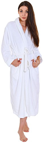 Simplicity Men / Women Luxurious Plush Kimono Bathrobe with Side Pockets