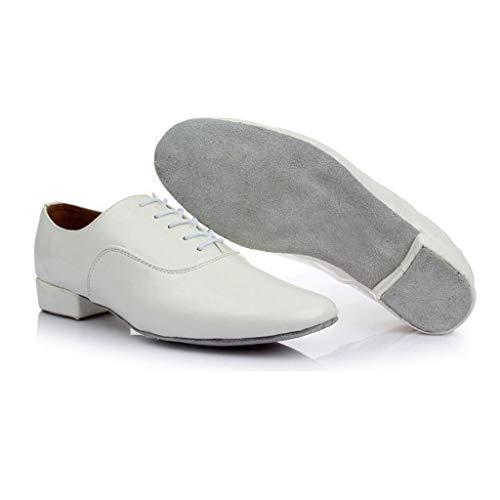 Fascino Uomo Tinta Sala 1 Maschi Bianca Ballo Maschile Da Standard Latino Scarpe Moderno Unita Stile qafqF1C