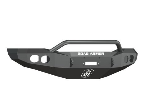 (Road Armor 44064B Satin Black Front Stealth Winch Bumper with Pre-Runner Guard for Dodge RAM HD)