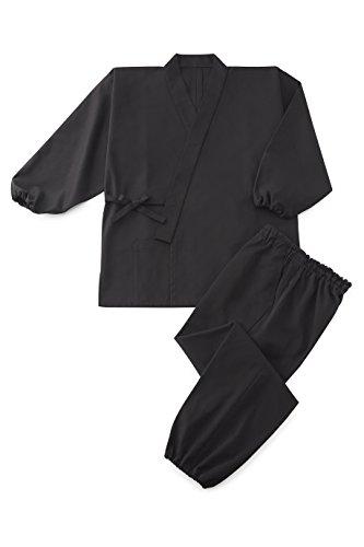 Cotton Blend Twill Samue 'JAKKOU' Black M by Tozando (Image #2)