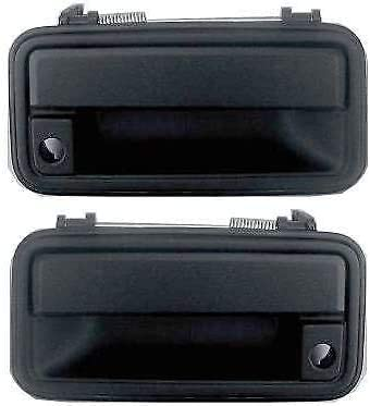 I-Match Auto Parts Front Driver and Passenger Side Door Handle Replacement For 95-00 Chevrolet Suburban TAHOE GMC YUKON GM1310132 GM1311132 15742229 15742230 Black Textured Outer With Keyhole Set of 2