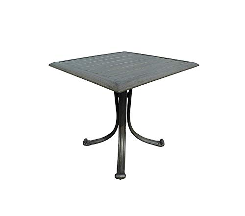 Wood & Style Patio Outdoor Garden Premium Newport Beach Square End Table, Grey (Beach Patio Newport Furniture)