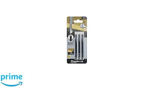 75 mm 3 hojas HCS para corte recto y sin astillas Hasta 60mm de grosor en madera Black+Decker X21063-XJ aglomerado y pl/ástico. Dte 4 mm L