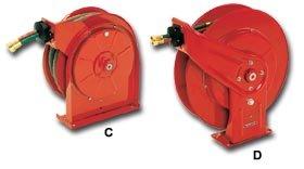 Reelcraft Spring Driven Dual Oxygen Acetylene Welding Hose Reel   Hose Inside Diameter  1 4    Hose Length 25