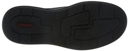 Rieker Herren 17312 Sneaker Schwarz (Schwarz/Schwarz/Offwhite/Schwarz)
