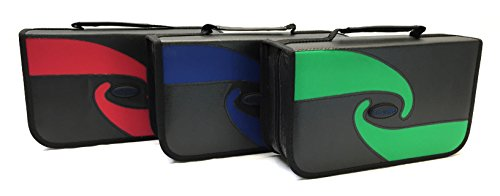 BW128AS Boostwaves Premium PU Leather Vinyl 128 CD/DVD Media Wallet Folder Carrying Case, Assorted Colors