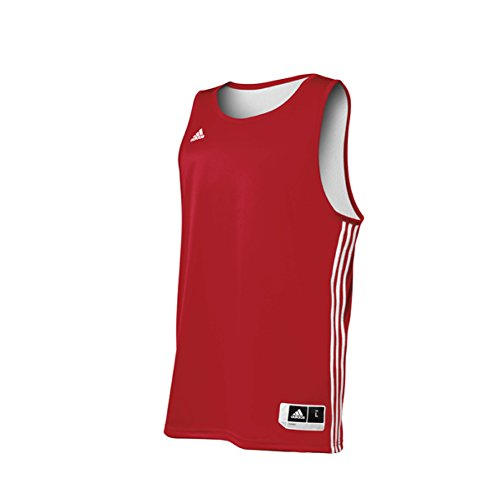 Adidas Mens Reversible Basketball Practice Jersey LT Power Red-White
