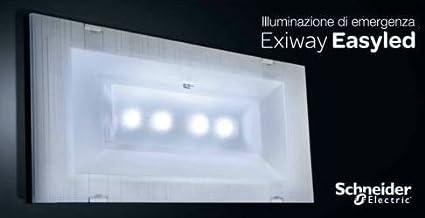 Plafoniere Led Con Emergenza : Schneider electric lampada di emergenza slim 11w led rifinitura