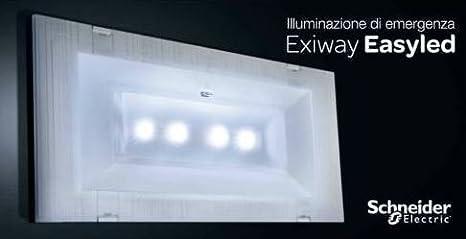 Schneider electric lampada di emergenza slim 11w led rifinitura
