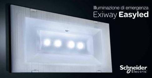 Schema Elettrico Lampada Di Emergenza Beghelli : Schneider electric lampada di emergenza slim w led rifinitura