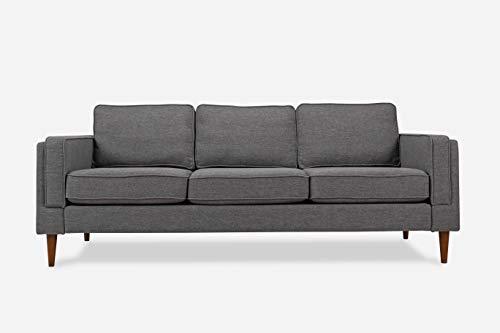 ALBANY PARK Mid-Century Modern Sofa, Grey Fabric
