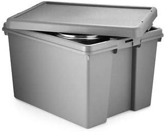 Wham Bam - Caja de almacenamiento con tapa (45 L): Amazon.es: Hogar