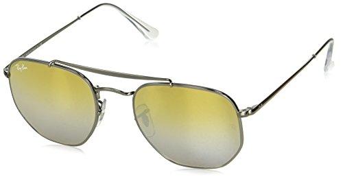 Ray-Ban RB3648 Marshall Aviator Sunglasses, Gunmetal / Brown Gradient Mirror, 51 mm, ()