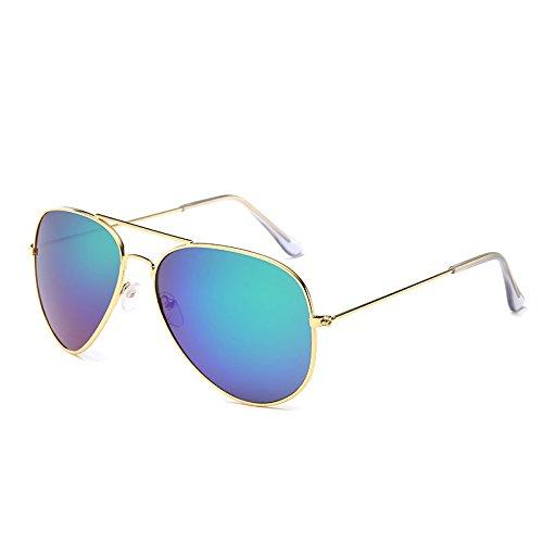 noche Mujer de el Visión Hombre gafas femenino masculino gafas de Gafas cristal de Gafas verde oro azul conducir sol de ZHANGYUSEN de Conductor de sol piloto wIRvqq