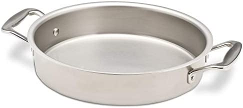 360 Stainless Steel Cake Pan, Handcrafted in the USA, 5 Ply, Surgical Grade Stainless Steel Bakeware, Dishwasher Safe, Professional Grade, Use as Baking Pan, Roasting Pan 9 Round