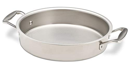 360 Stainless Steel Cake Pan, Handcrafted in the USA, 5 Ply, Surgical Grade Stainless Steel Bakeware, Dishwasher Safe, Professional Grade, Use as Baking Pan, Roasting Pan (9
