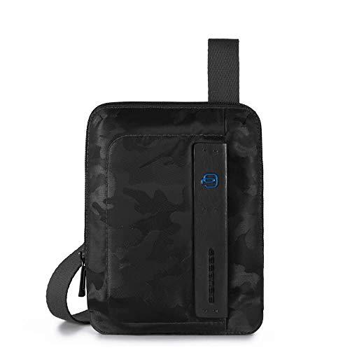 Piquadro Man Sac à bandoulière avec mini porte-iPad noir
