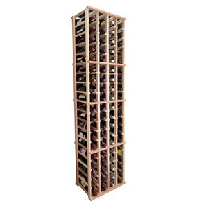 Four Column Wine Rack for Eighty Bottles (Redwood with Classic Stain)
