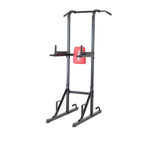 York Fitness Workout Tower Free Standing - Black