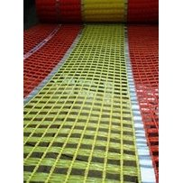 Reflective Safety Barrier Mesh Fence 0.9m x 14m Knitted Orange /& Yellow