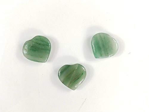 Green Jade Heart Shaped Stone Healing Wisdom Se7en Chakra Collection Hand Carved New