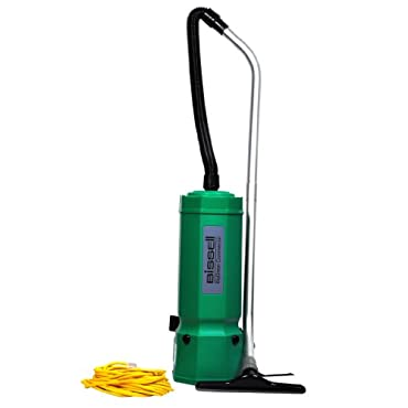 Bissell BG1001 BigGreen Commercial High Filtration Backpack Vacuum, 1375W, 25.5 Height, 10 qt Capacity, Red