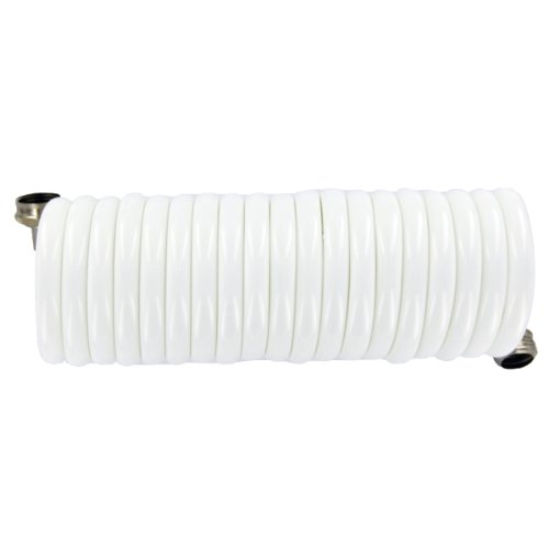 (Plastair SpringHose PUWE615B9-M-11S-AMZ Light EVA Lead Free Drinking Water Safe Marine/RV Recoil Hose, White, 3/8-Inch by 15-Foot)