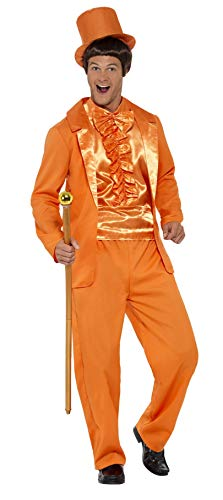 Smiffys Men's 90s Stupid Tuxedo Costume, Orange, Large -