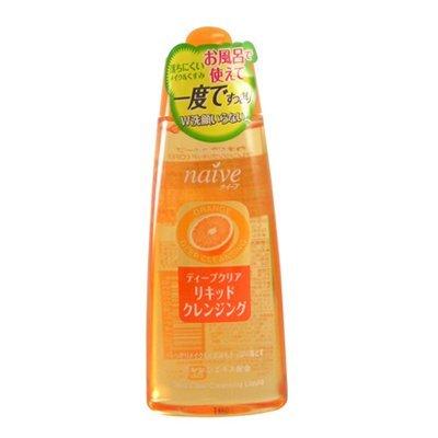 Kracie Naive Deep Clear Liquid Cleansing Orange Extract 170ml (Kracie Cleansing Oil)