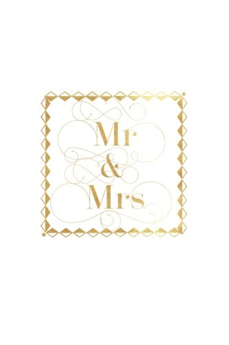 Mr & Mrs: Gold Stamp | Plan Your Wedding Nuptials & Future Together With Our Wedding coordination book | Bride to Be, Mother of The Bride, Bridesmaids ... Organizer with 100 pages | 6