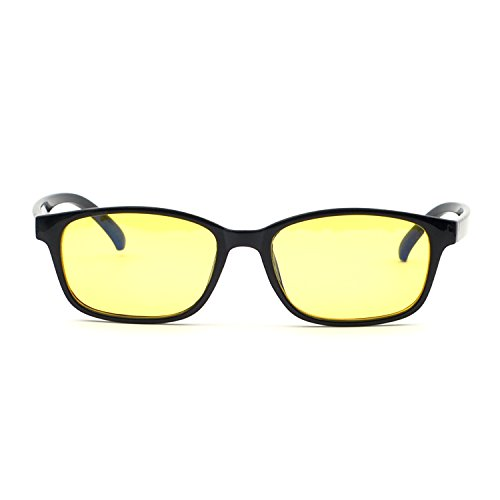 XINMADE FAN Blue Light Blocking Glasses,Computer and Gaming Glasses (Yellow - Sunglasses Fsa With
