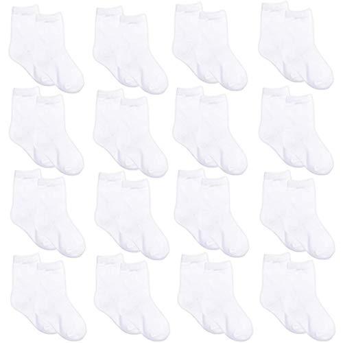 Toddler Socks Girls Boys Cotton 16 Pair Toddler Baby Ankle Crew Sock 2-4T